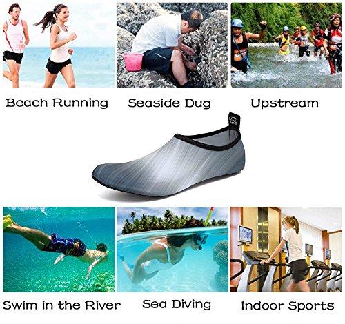 Barfuß Badeschuhe Yoga Grau Schwimmschuhe Surfschuhe Damen Gradient Surfen Pool Für Beach Herren Strandschuhe Iceunicorn Aquaschuhe Wassersport YS0wHqH