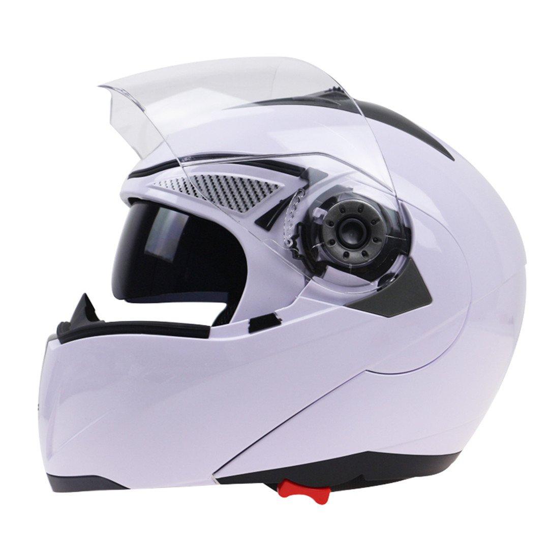 Off-Roady El Casco de Cristal Doble Profesional de la Motocicleta Levanta el Casco de la Moto Disponible con Gafas de Sol Negras internas: Amazon.es: ...