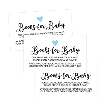 Amazon Com 25 Books For Baby Request Insert Card For Boy Blue
