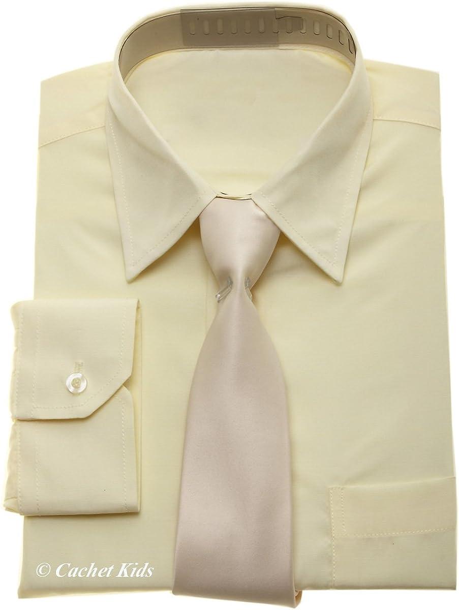 Niños Vestir para hombre – Juego de crema Camisa y Corbata Para ...