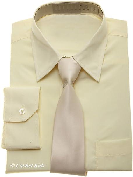 Niños Vestir para hombre – Juego de crema Camisa y Corbata Para Niños Marfil Ivory Cream 15 años: Amazon.es: Ropa y accesorios
