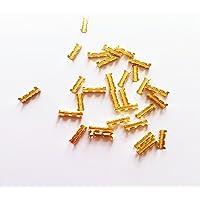 KKmoon 100pcs Terminal de hebilla de latón dorada