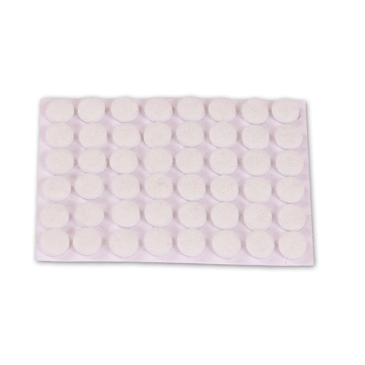 Di/ámetro 9 mm Set de 48 Piezas Brinox B77010M Fieltro adhesivo Marr/ón