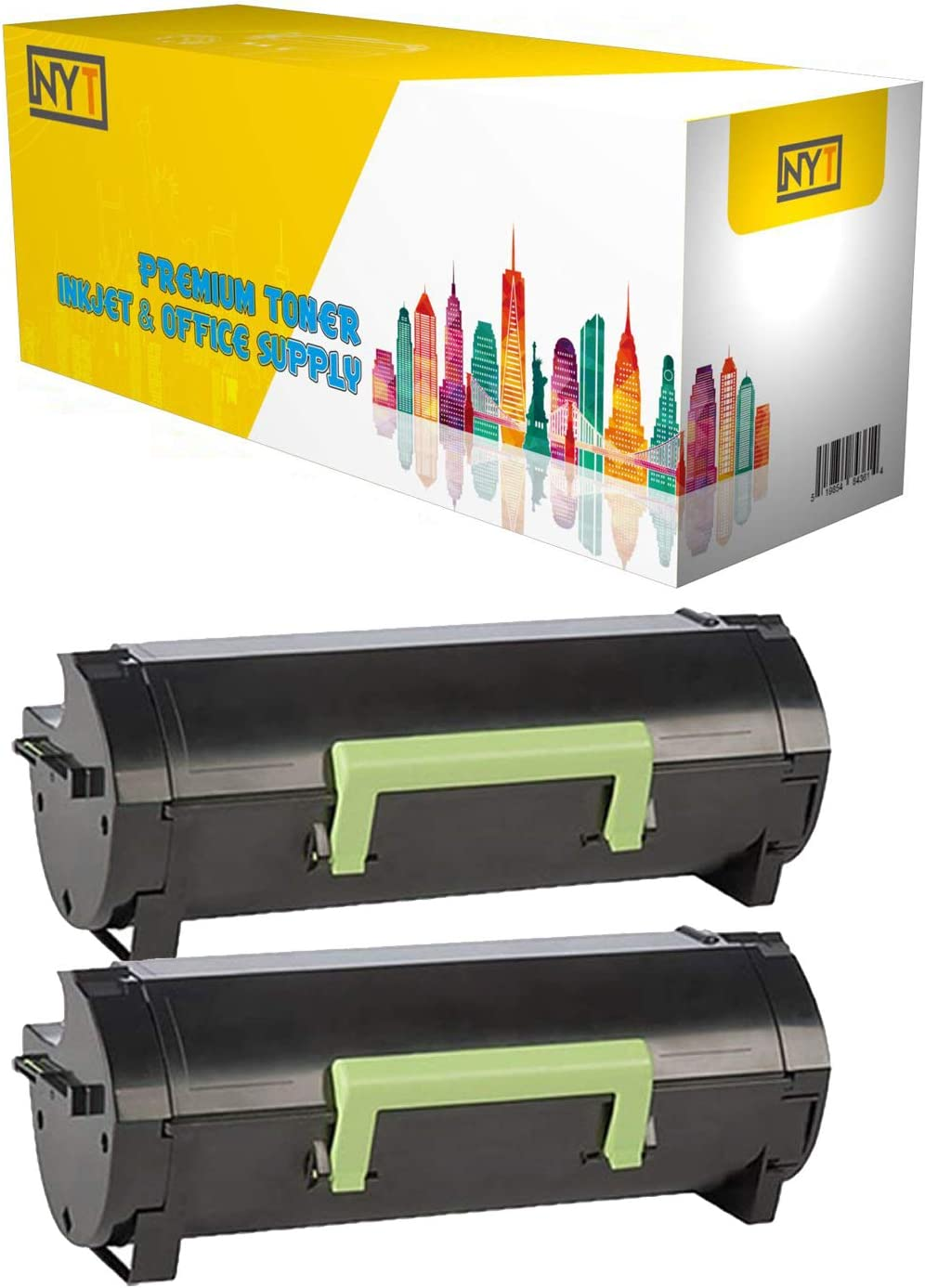 2 Pack NYT/Compatible/52D1X00 Replacement/for/521X Toner/Cartridge/for/Use/in/ Lexmark MS711DN MS811DN MS811DTN MS811N Black