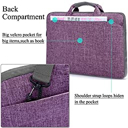 Laptop Bag For 15.6 Inch Laptop, BRINCH® Multi-functional Suit Fabric Portable Laptop Carrying Bag / Shoulder Laptop Bag / Laptop messenger bag / Notebook Computer Sleeve Case Bag Handbag for 15-15.6 Inch Laptop / Tablet / Macbook / Notebook,Purple