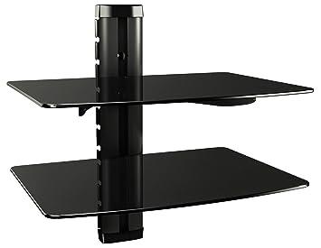 RICOO Wandregal Glas TV Board Hifi Rack Universal: Amazon.de: Elektronik