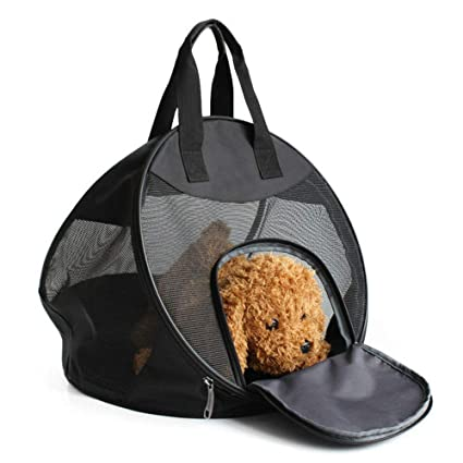 THIBETA Dog Cat Carrier Backpack Bag with Breathable Head for Outdoor Travel.