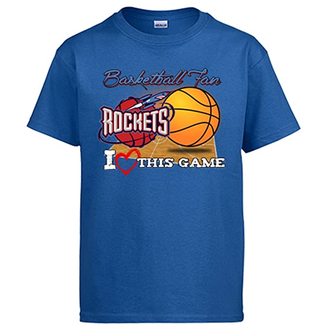 Camiseta NBA Houston Rockets Baloncesto Basketball fan I Love This Game - Azul Royal, 3