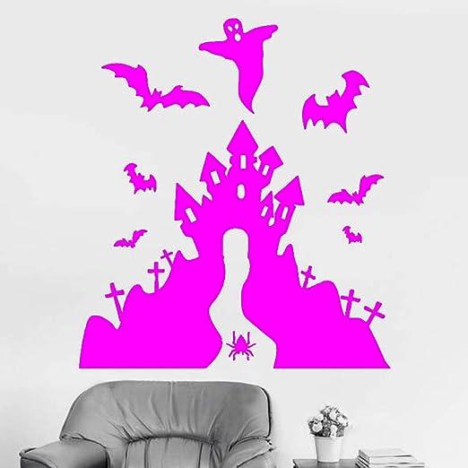 yaoxingfu Happy Halloween Castle Bat Wall Sticker Vinilo ...