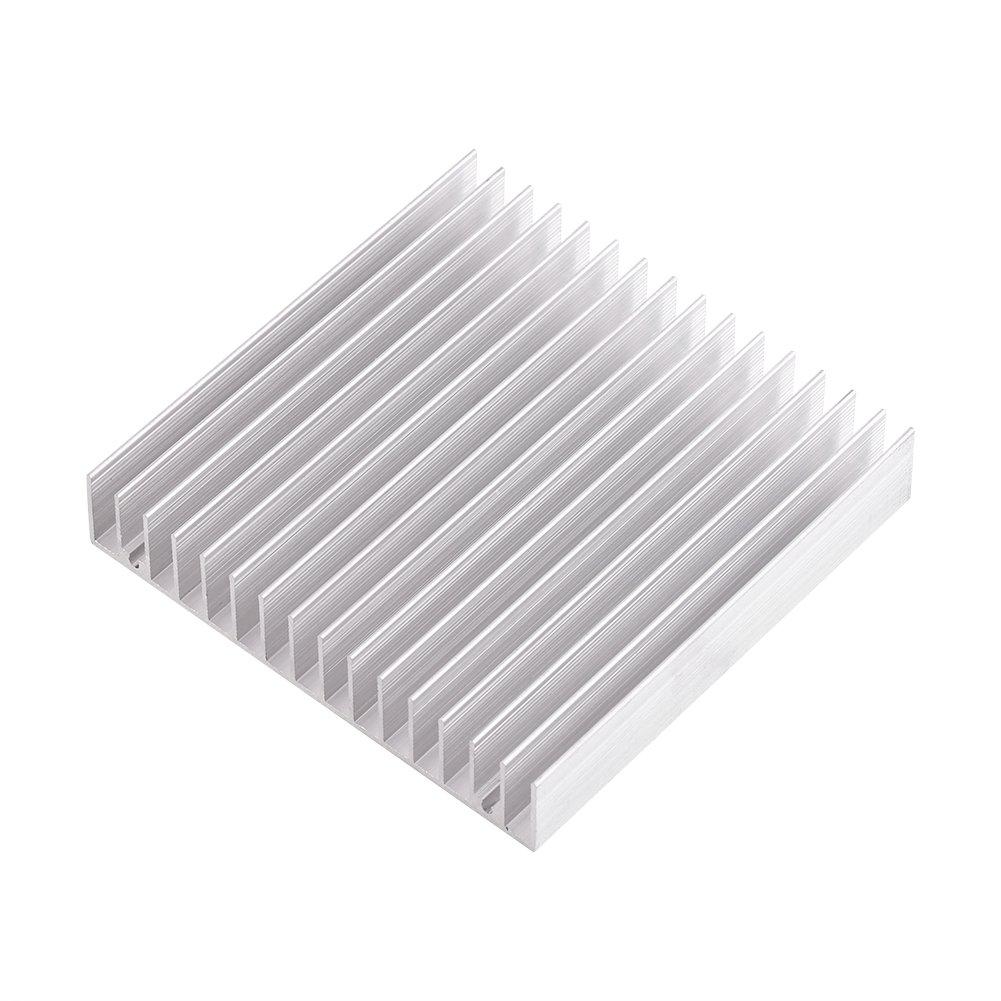 1pc Aluminum Heat Sink Heatsink Module Cooler Fin for High Power Transistor Semiconductor Devices with 16 pcs fins 3.93''(L) x 3.93''(W) x 0.7''(H) /100mm(L)x 100mm(W) x 18mm(H)