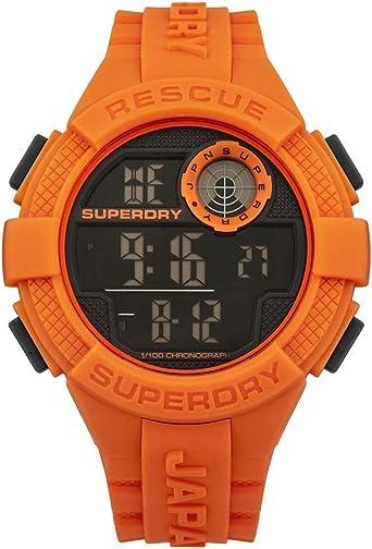 Superdry Reloj Digital para Hombre de Cuarzo con Correa en Silicona SYG193O
