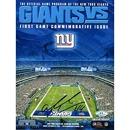 e42629b481d Image Unavailable. Image not available for. Color: AHMAD BRADSHAW NY GIANTS  SIGNED INAUGURAL GAME MEADOWLANDS METLIFE STADIUM PHOTO