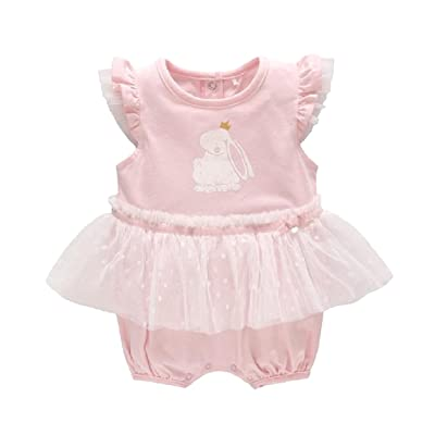 Abetteric Toddler Girl's Cotton Summer Skirts Patchwork Coveralls Romper