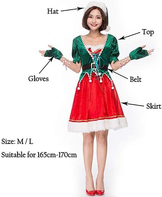 EDSDFF Disfraces De Mujeres Adultas Vestido Jungle Green Elf ...