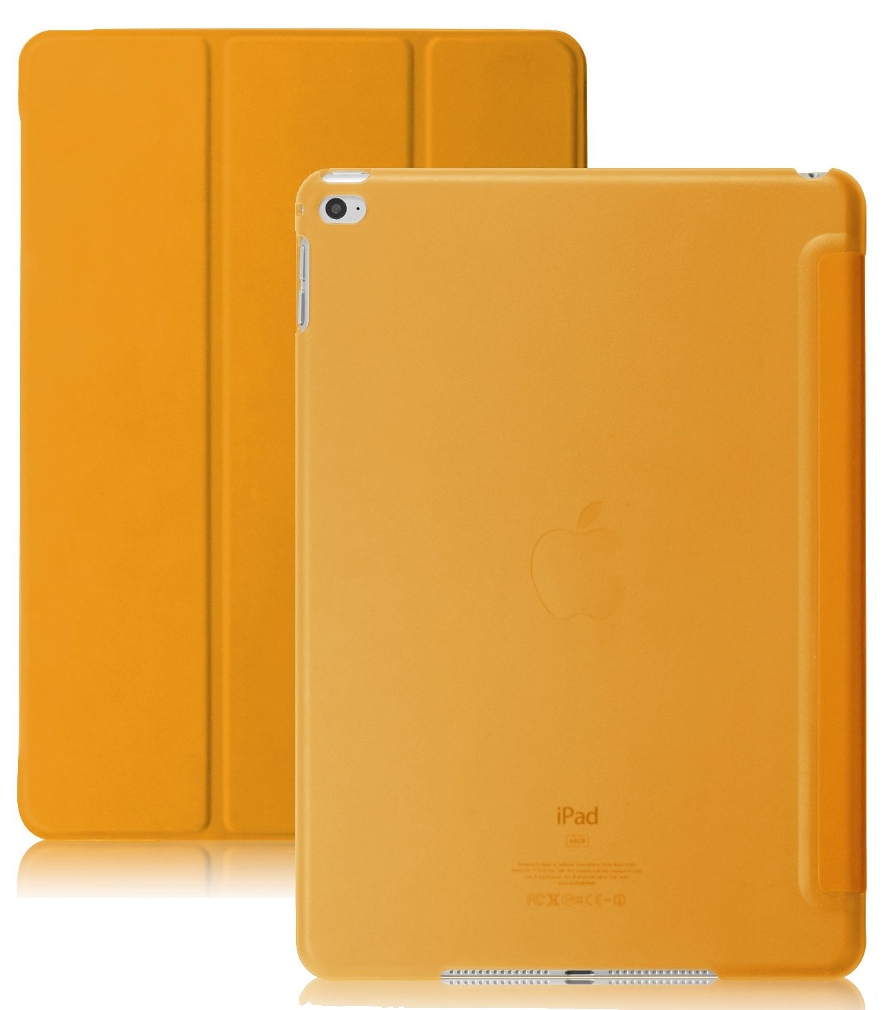 Ipad Air 2 Case (Ipad 6) - Khomo Dual Super Slim Orange Cover With With See T.. 12