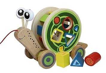 hape pull and play shape juguete para clasificar formas madera incluye cuerda