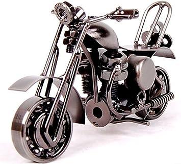 Modele De Moto De Fer Vehicule Miniature Moto Ornements Modernes Comme Cadeau D Anniversaire Accessoire De Photographie Pistolet Gris Amazon Fr Jeux Et Jouets