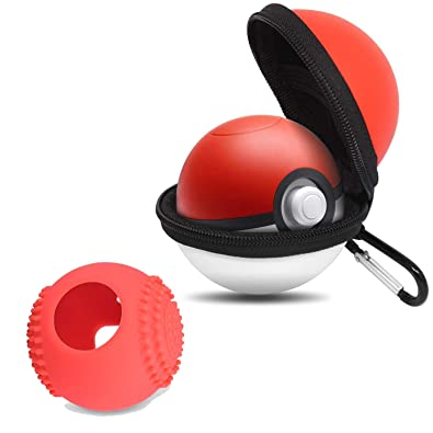BROTOU Funda para Pokebolas Pokemon para Nintendo Switch Pokeball Plus Bolsa para Transportar Poké Ball Plus en Color Rojo y Blanco