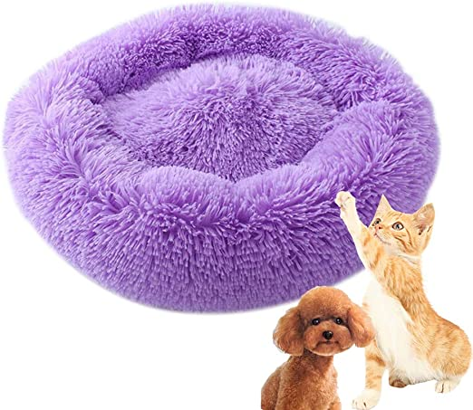 Shuda 1 pc Chenil Mignon Suave Redondo Peluche Cachorro Perro Gato Gatito Cama Animales Alfombra sofá, 50 cm (Black Friday Deals) -Pink: Amazon.es: Productos para mascotas