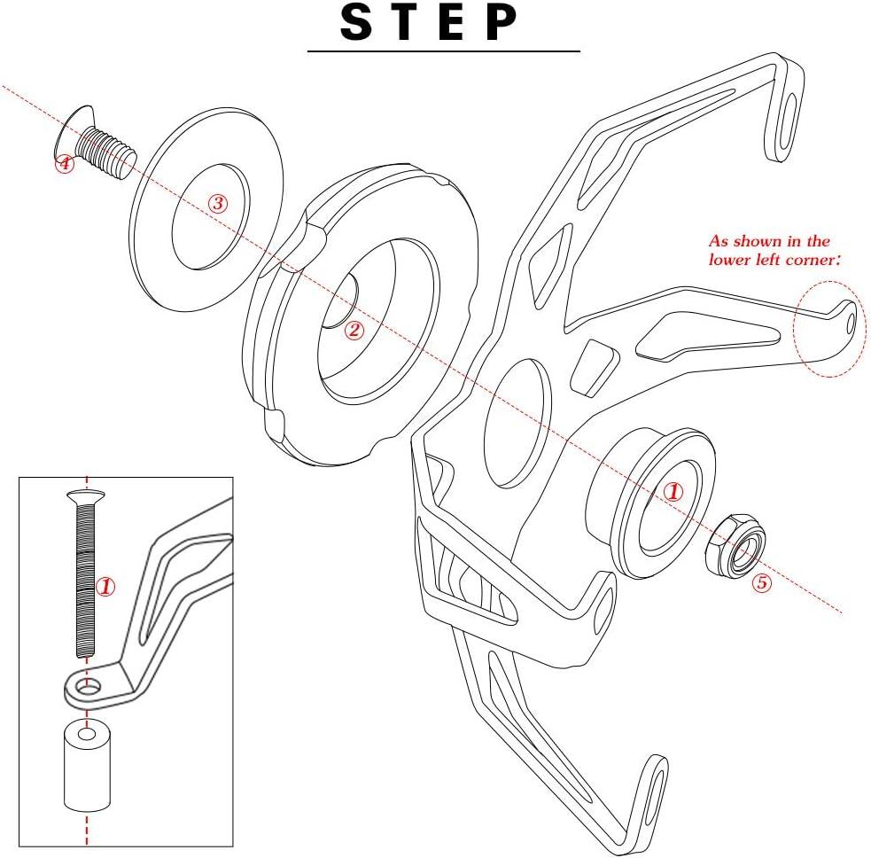 Moto Curseurs de Cadre Crash Pads Anti-Chute Moteur Protecteur pour Yamaha MT09 2013-2020 MT-09 Tracer 2014-2020 Tracer 900 GT 2018-2020 XSR900 2015-2020 XSR900 Abarth 2017-2020 Bleu