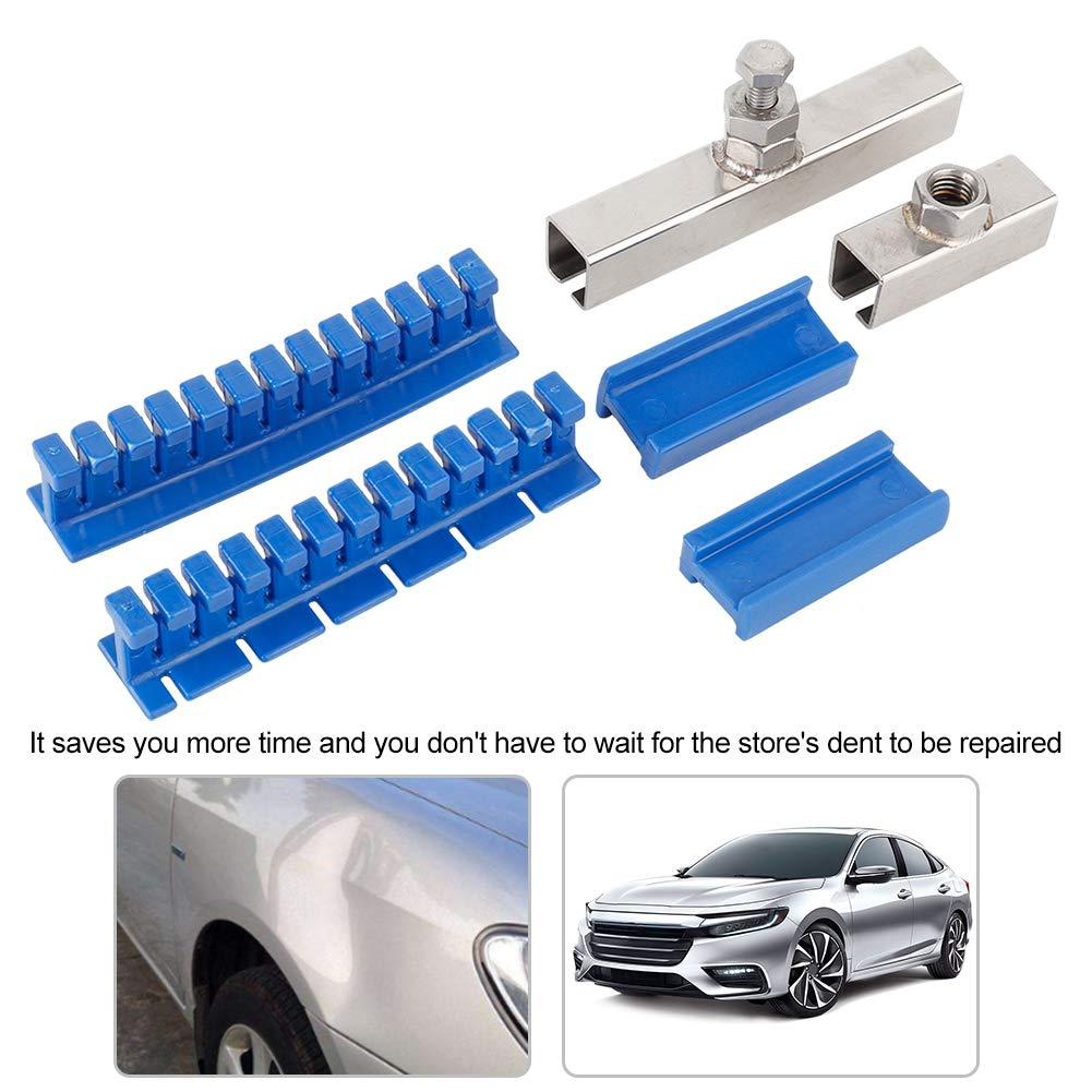 colore: blu Akozon lungo e corto Set di attrezzi per la rimozione delle ammaccature in acciaio INOX con cavo di trazione corto