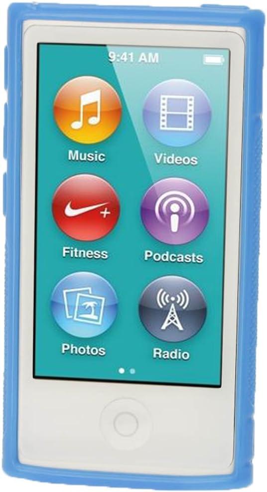 Noir igadgitz U2001 Etui Housse Coque S Line pour Apple iPod Nano 7/ème G/én/ération avec Film /Écran