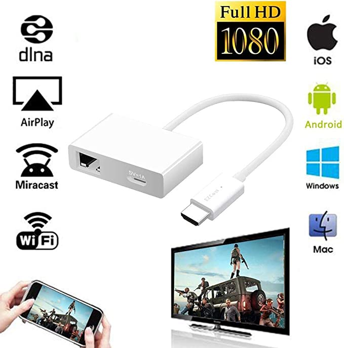 18 opinioni per iBosi Cheng WiFi Display Dongle Wireless Display Ricevitore HDMI Dongle per