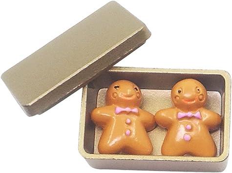 Amazon.es: Escala 1/12 Galletas con Caja de Almacenaje en Miniaturas Accesorio Decorativo de Dollhouse - Oro: Juguetes y juegos