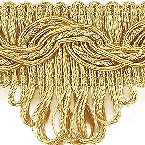 ab 0,99 €//m ab 5,0 m Luxus Posamentenborte 35 mm Gold Honiggelb Spitze Bordüre