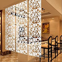 MagiDeal Pack of 4 Butterfly Flower Hanging Screen Curtain Room Divider Partition Wall 3 Colors - White
