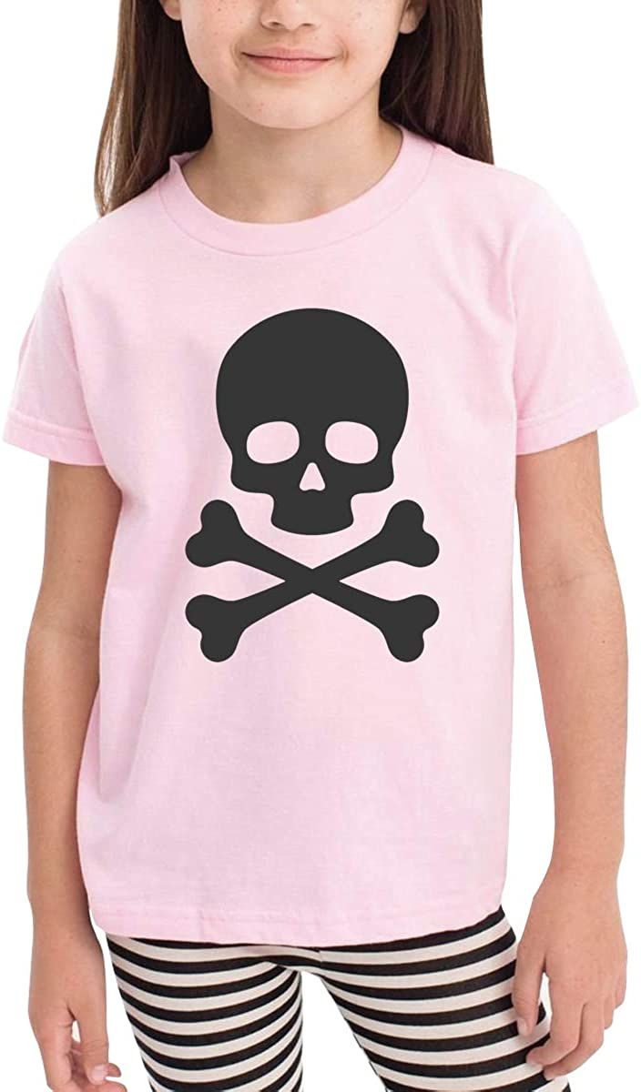 Onlybabycare Skull and Crossbones Toddler Boys Girls Short Sleeve T Shirt Kids Summer Top Tee 100/% Cotton Clothes 2-6 T