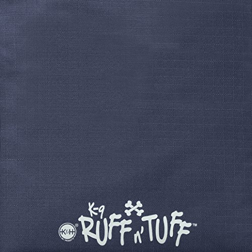 K&H Pet Products K-9 Ruff n' Tuff Crate Pad Large Navy Blue (25'' x 37'') - 1260 Denier Rip-Stop Polyester for Pets That Need Extra Tough Fabric by K&H Pet Products (Image #1)