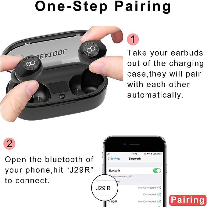 Wireless Earbuds Kovon 5.0 Auto Pairing Bluetooth Headphones ...
