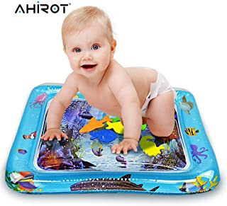 AHIROT Inflatable Water Mat Infants Kids Tummy Time Play Mat as Fun Time Play Activity Center Stimulation Growth for Children
