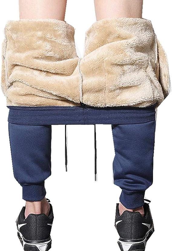 Pantalones Deportivos de Felpa para Hombre Pantalones ...