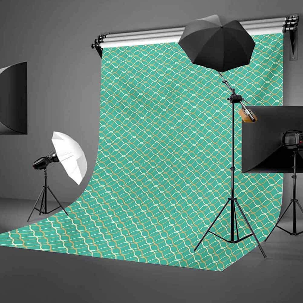 Modern 10x12 FT Backdrop Photographers,Geometrical Line Art Waves Oval Shapes Optical Illusion Pattern Background for Photography Kids Adult Photo Booth Video Shoot Vinyl Studio Props