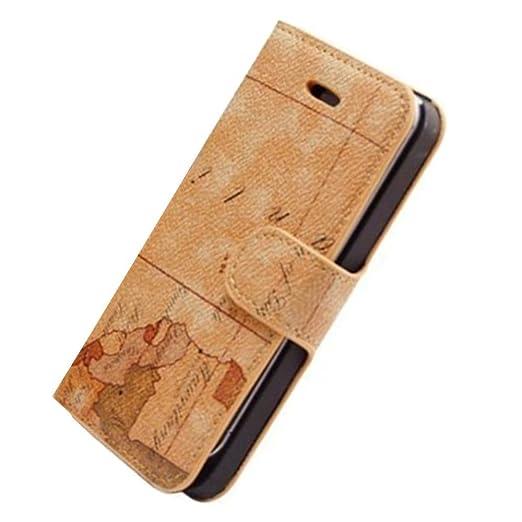 101 opinioni per HUANGTAOLI Custodia in Pelle Flip Case Cover per Apple iPhone 4/4S Pellicola