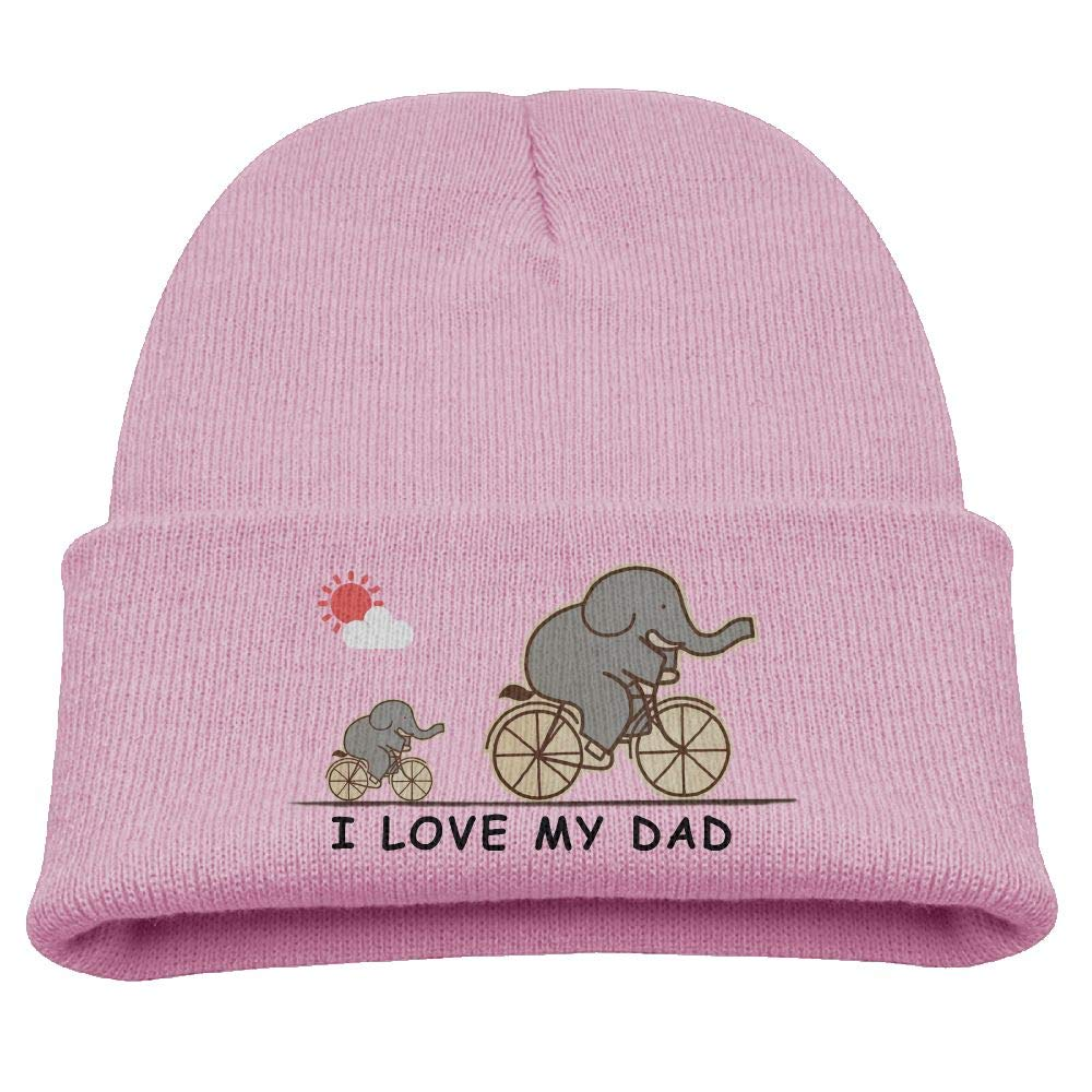 Banana King Elephant I Love My Dad Baby Beanie Hat Toddler Winter Warm Knit Woolen Cap for Boys//Girls