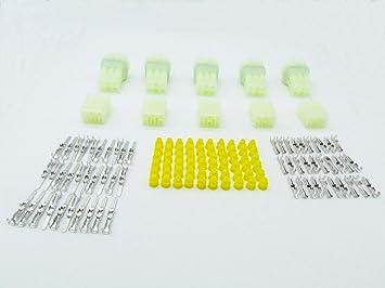 Sumitomo HM 4 way connector MALE /& FEMALE set pins sockets /& seals Sealed PAIR