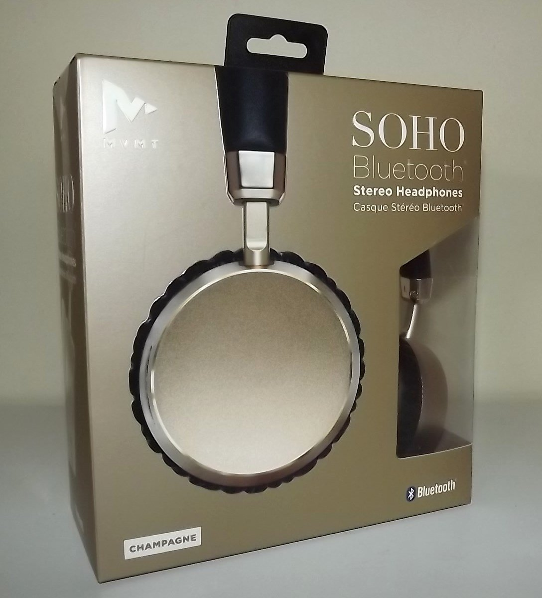610ad95d1df Amazon.com: MVMT Soho Bluetooth Wireless Rechargeable Stereo Headphones  Champagne: Home Audio & Theater