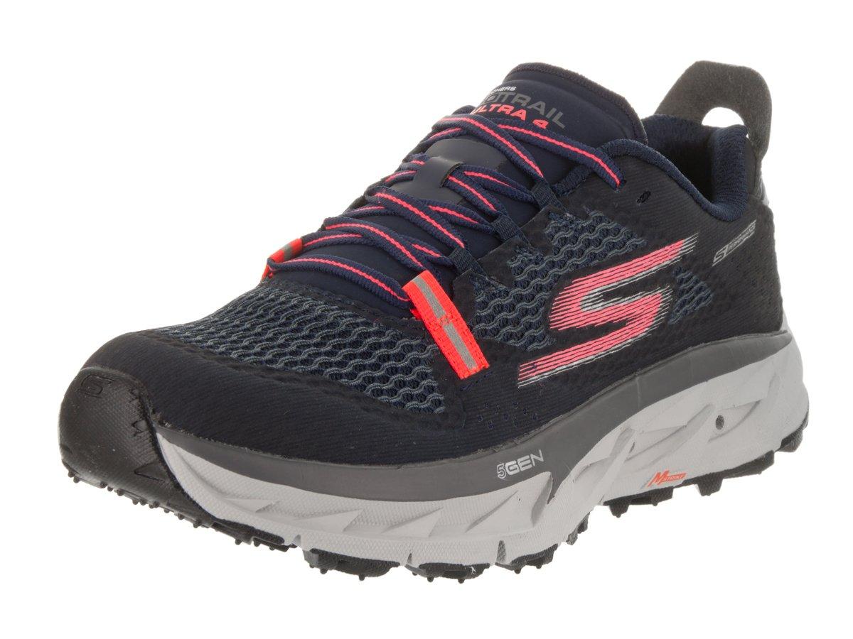 Skechers Womens GOtrail Ultra 4 Trail Running Shoe,Navy/Coral,US 8.5 M