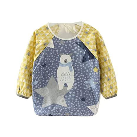 Buy Chinashow Women s Waterproof Long Sleeved Bib Feeding Clothes Bibs 2 4  Years Starry Sky 46 cm Multi Online at Low Prices in India - Amazon.in 796faf2e4e
