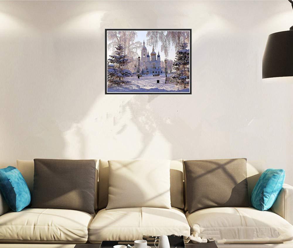 BaZhaHei de Pintura, Pintura de paisaje de 5D Bordado Pinturas Rhinestone Pegado DIY Pintura Diamante punto de Cruz del Taladro de punta de pintura diamante ...