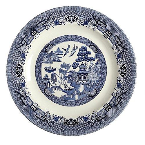 Queen's Churchill Blue Willow Round Serving Platter