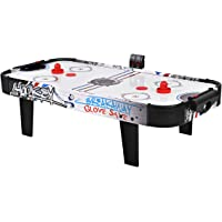Goplus Air Powered Hockey Table, LED Electronic Scoring Sports Game, Indoor Hockey Table Sports Gaming Set, Great Gift for Kids