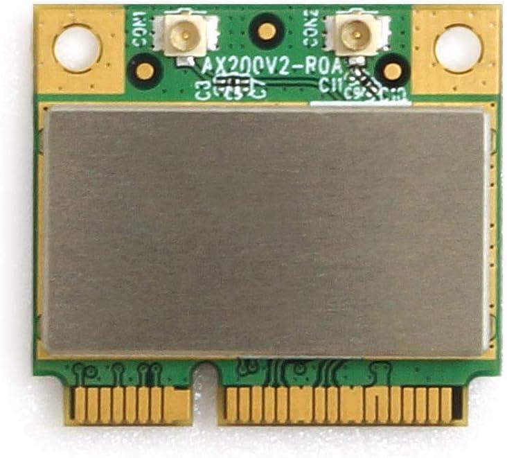 Alfa Network High-Efficiency Intel AX200U Mini PCIe WiFi6 and BT5 Card, 2× IPEX/U.FL (AWPCIE-AX200U)