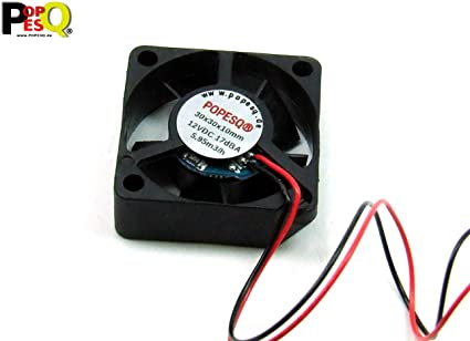 POPESQ® 1 pcs. x Ventilateur Super Silencieux 12V 30mm x 30mm x 10mm Extruder 3D Imprimante 1 pcs. x Fan Super Silent 12V 30mm x 30mm x 10mm