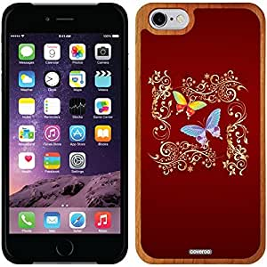 Coveroo iphone 5c Madera Wood Thinshield Case with Butterfly Swirly Glimmer Design