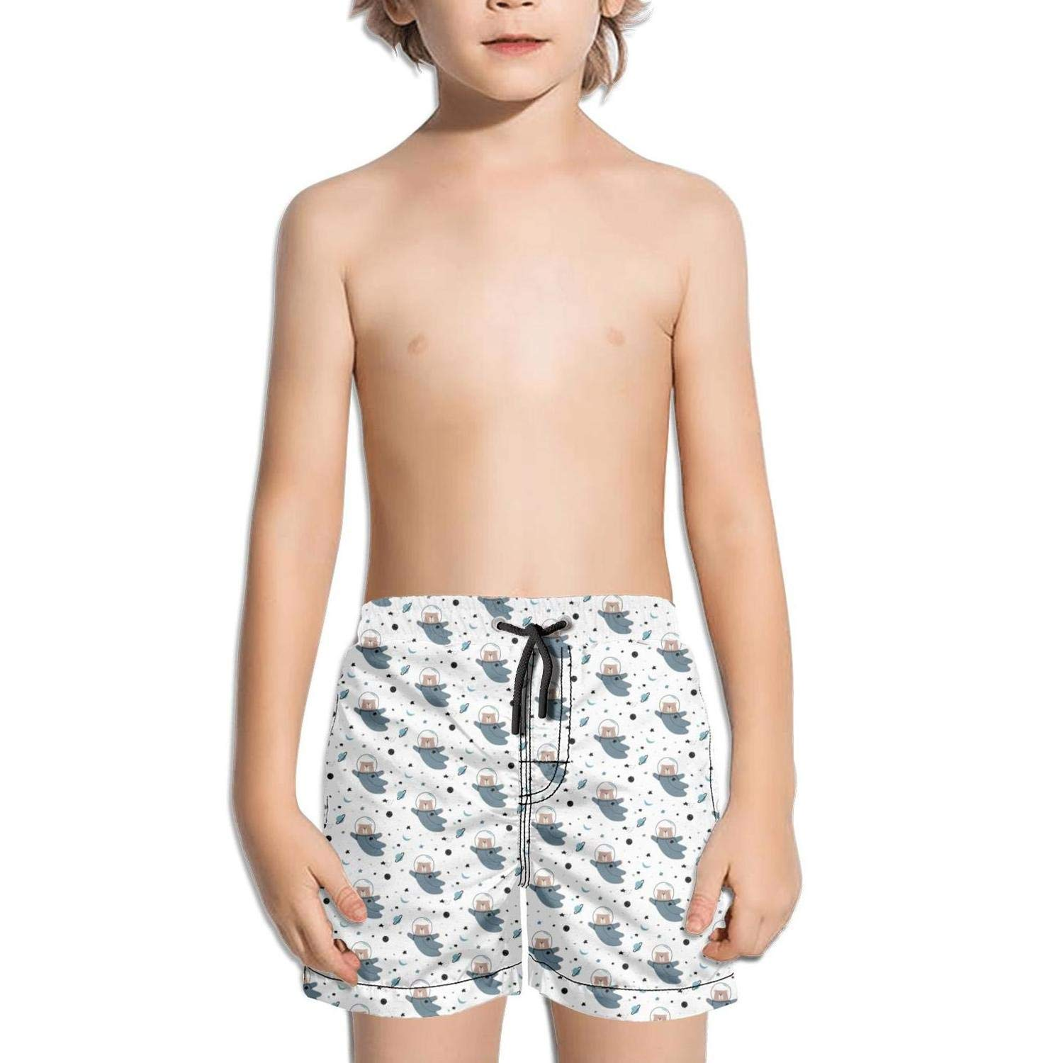 Boys Girls 3D Bear Claws Stand Swimming Trunks Running Swimming Cool Boardshorts