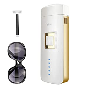 IPL Hair Removal for Women and Men Painless Permanent Hair Removal Device At-Home Laser Hair Remover for Facial Whole Body, Upgrade to Unlimited Flashes(Needn't Extra Replacement Cartridge) (White)